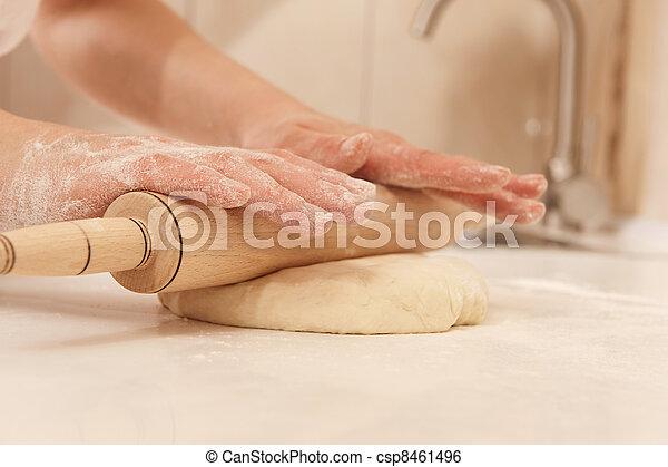 Rolling dough - csp8461496