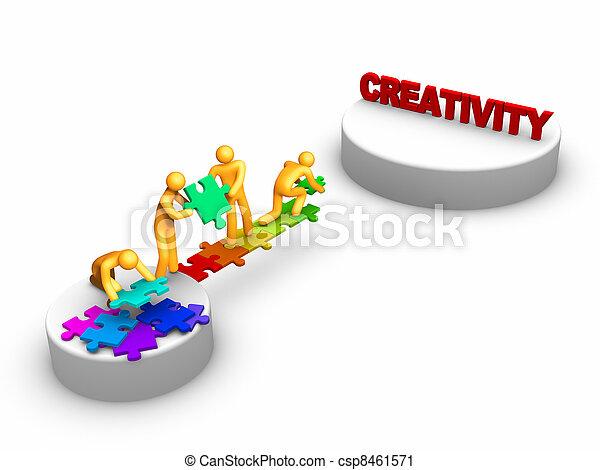 Team work for Creativity - csp8461571