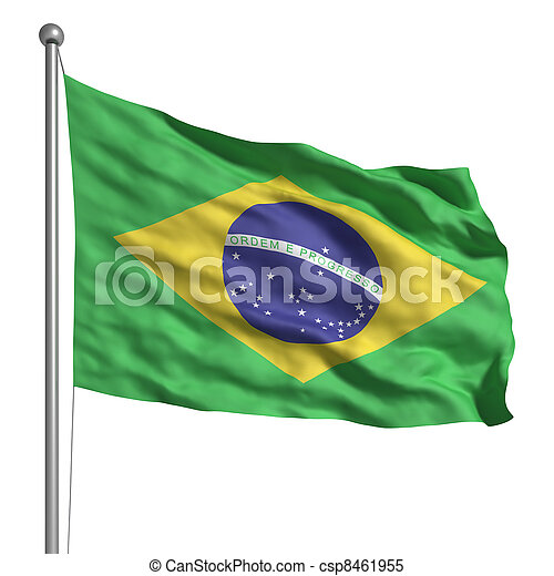 drapeau, brésil - csp8461955
