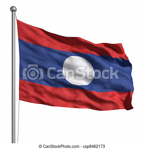 Flag of Laos - csp8462173