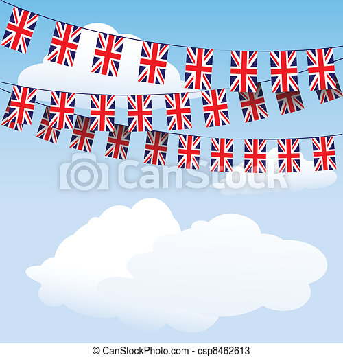 Union Jack bunting flags - csp8462613
