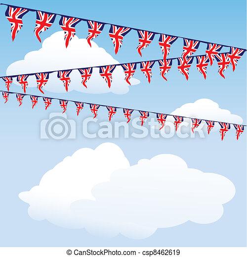 Union Jack bunting - csp8462619