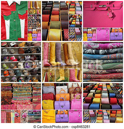 italian fashion collage - csp8463281