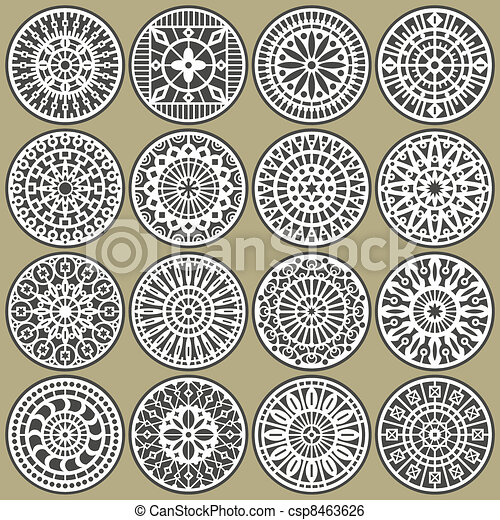 Ornamental circles decors - csp8463626