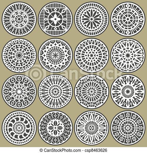 Ornamental circles decors - csp8463626