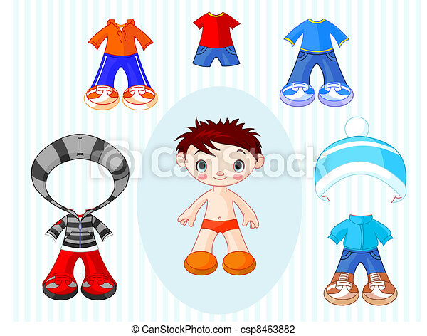Boy with clothes - csp8463882