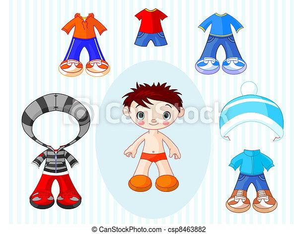 Boy with clothes - csp8463882