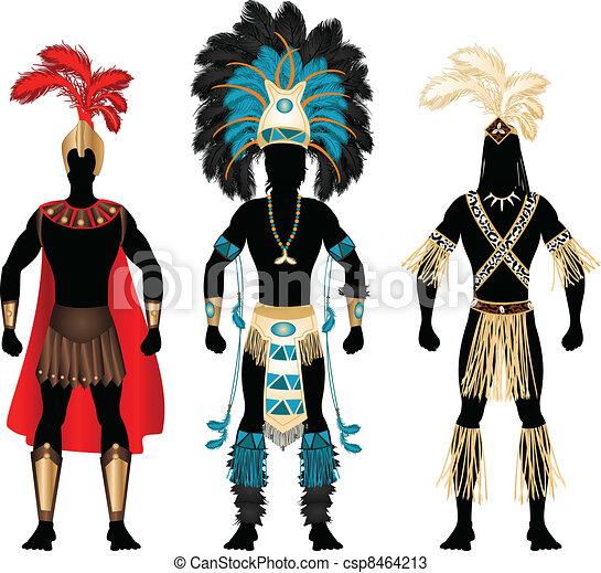 Vector , macho, trajes, carnaval
