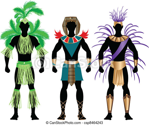 Male Carnival Costumes - csp8464243