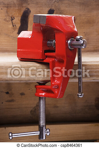 Vise on the workbench - csp8464361