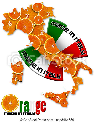 Orange made in Italy - csp8464659