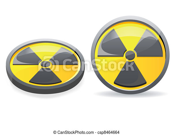 emblem is a sign of radiation - csp8464664