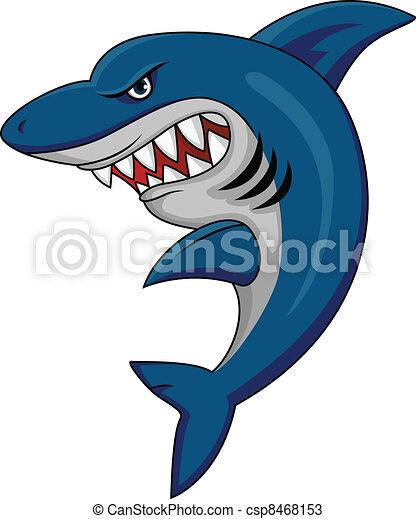 Shark mascot - csp8468153