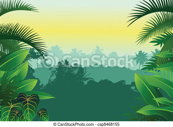 Tropical jungle - csp8468155