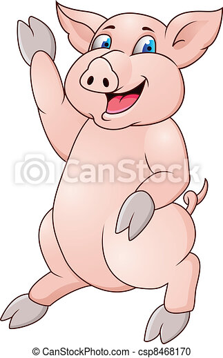 Funny pig - csp8468170