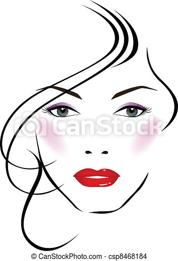 Eps Vector Of Beatiful Face Vector Illustration Of