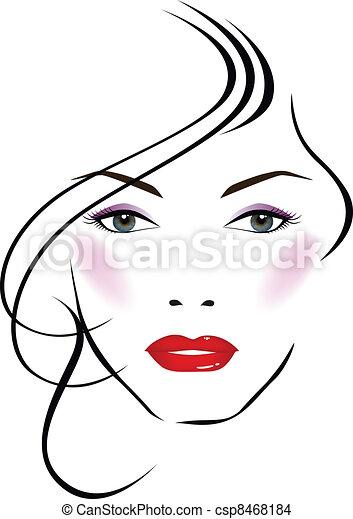 Beatiful face - csp8468184