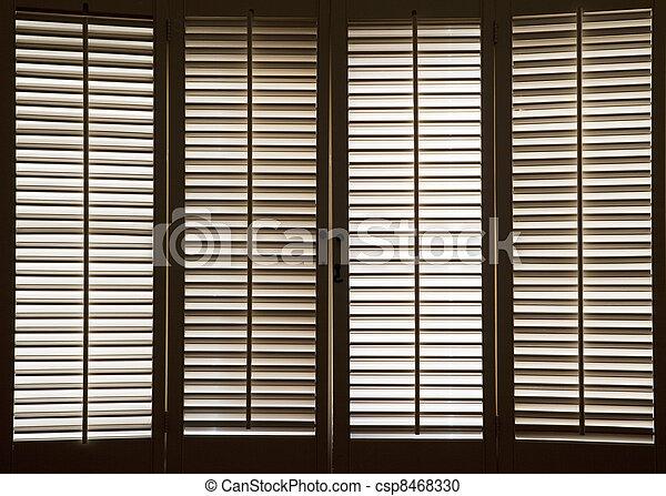 banco de fotografia de madeira janela venezianas madeira venezianas frente csp8468330. Black Bedroom Furniture Sets. Home Design Ideas