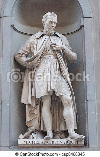 Statue of Michelangelo Buonaroti - csp8468345