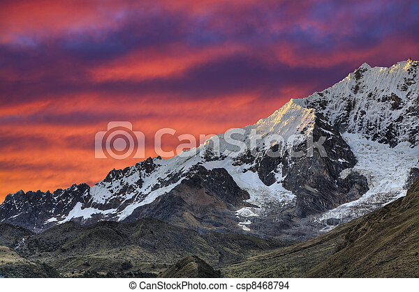 Evening in the Andes - csp8468794