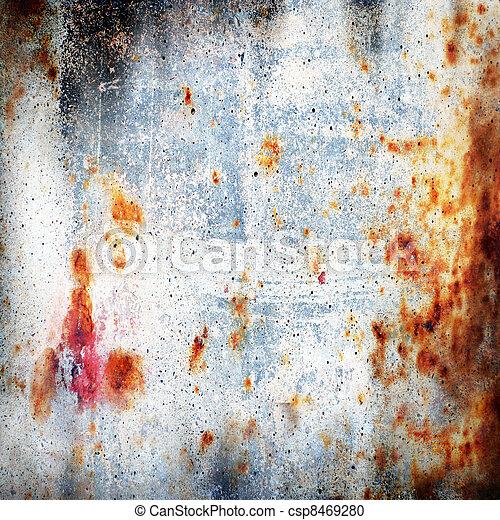 Rusty-coloured grunge background - csp8469280