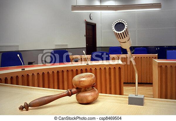 empty courtroom - csp8469504
