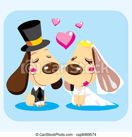 Married Dog Couple - csp8469574