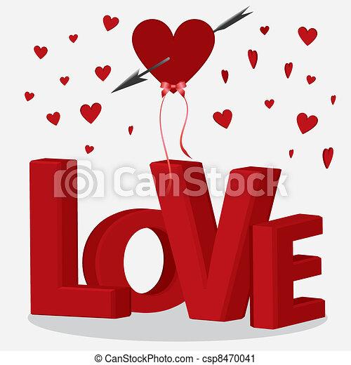 Desenho coração com letras