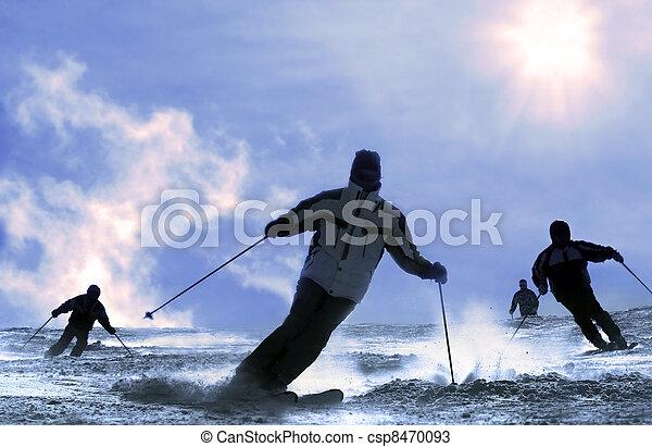 The Skier - csp8470093