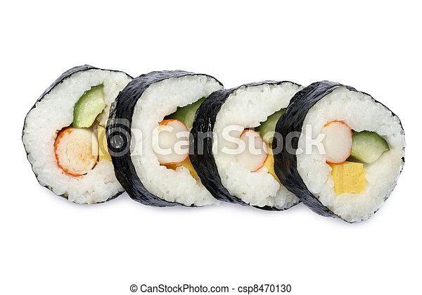 Japanese sushi roll - csp8470130