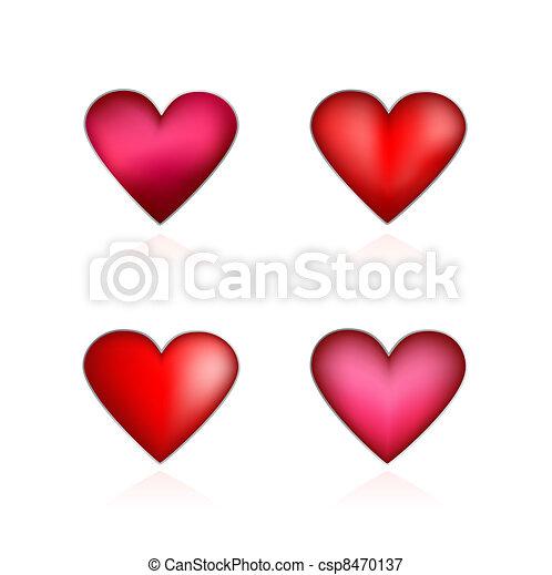 Set Valentines hearts - csp8470137