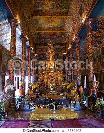 Wat Phnom in Cambodia - csp8470208