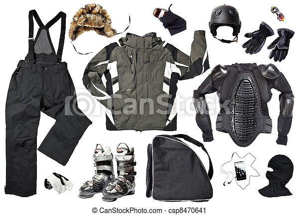 Male skier clothing - csp8470641