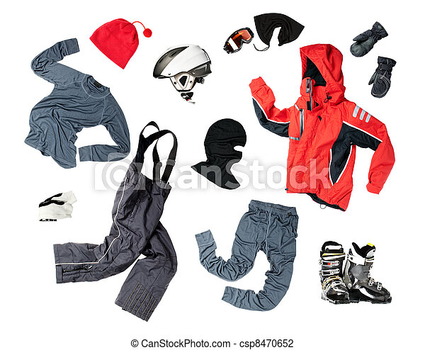 Child skier's clothing - csp8470652