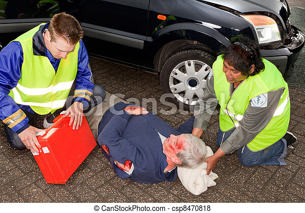 Paramedics With Injured Man 8470818 on Art Clip Crash Car