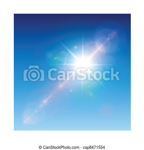 Sun with lens flare - csp8471554