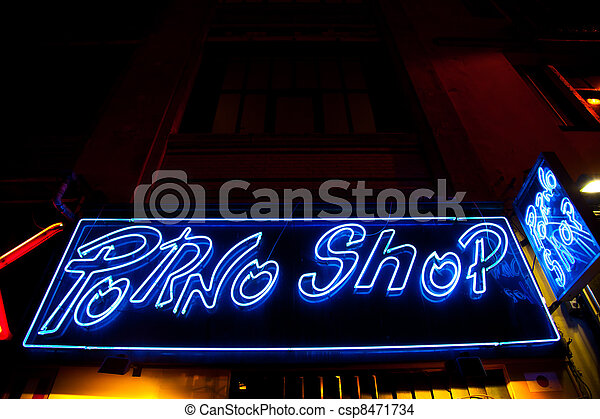 Sexy shop entrance - csp8471734