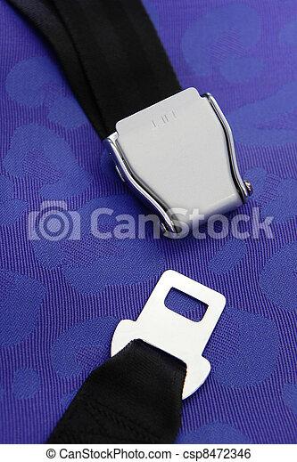 seat belt with blue background - csp8472346