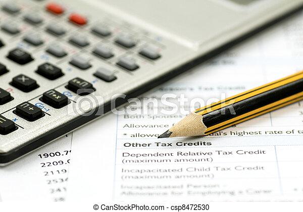 contabilidade, conceito, financeiro - csp8472530