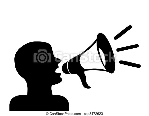 Megaphone Man Clipart Man With Megaphone Silhouette