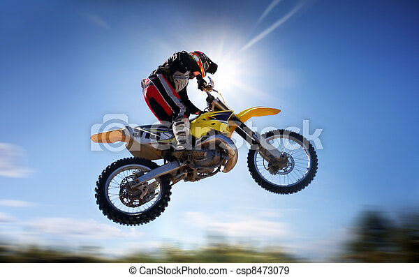 flying moto  - csp8473079