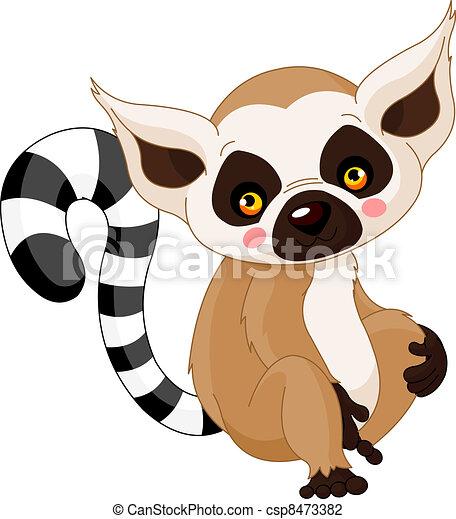 Fun zoo. Lemur - csp8473382