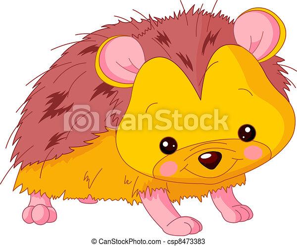 Fun zoo. Hedgehog - csp8473383