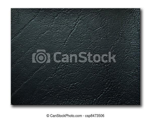 texture of black leatherette sample - csp8473506