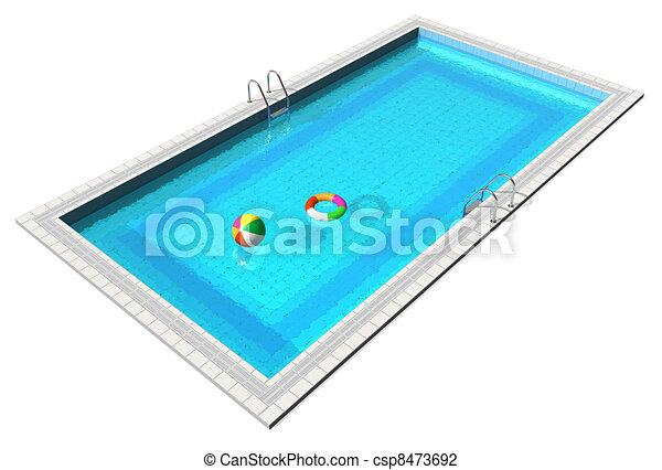 Blue swimming pool - csp8473692