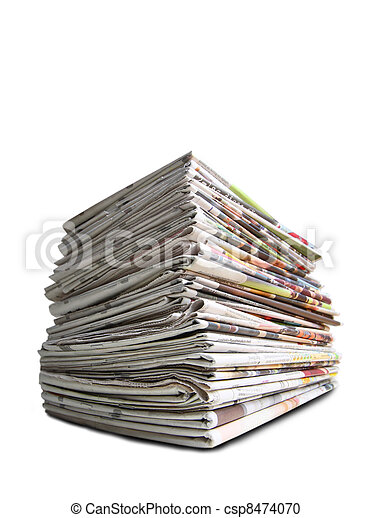 A pile of newspapers - csp8474070