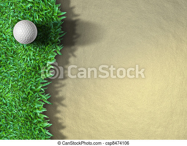 Golf ball on the grass - csp8474106
