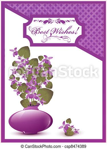 Best Wishes postcard - csp8474389