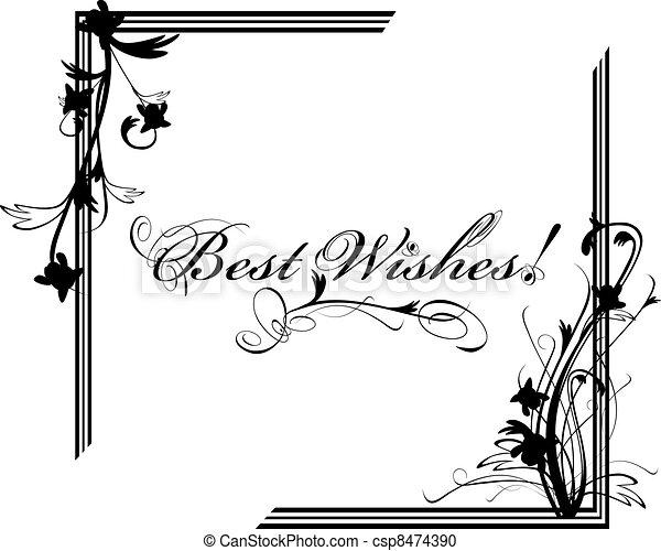 Best Wishes postcard - csp8474390