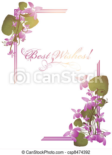 Best Wishes postcard - csp8474392